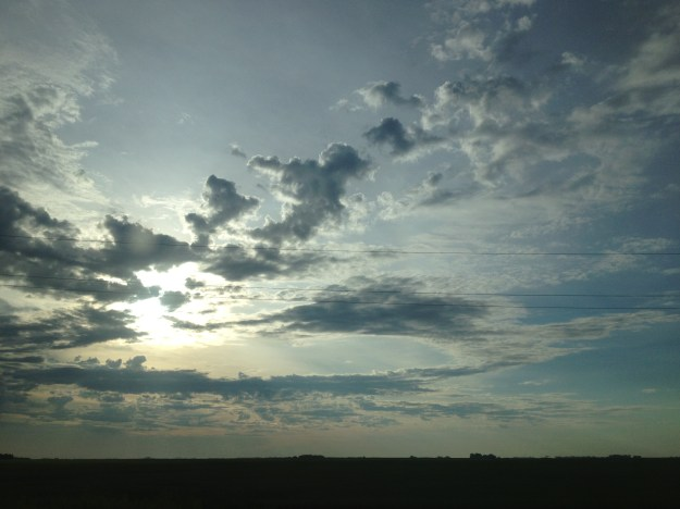 A 7am Manitoba sky.