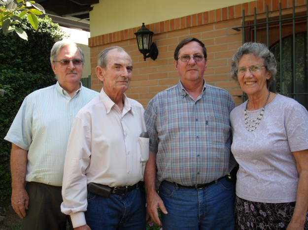 Oma and her brothers who still live in Paraguay. The age difference is because of a second marriage which is a story unto itself.