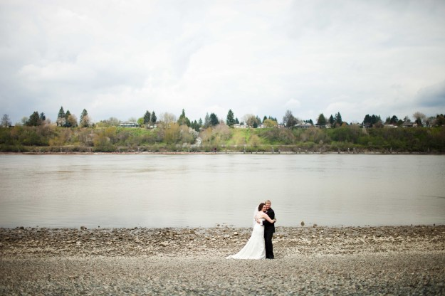 Hello Fraser River! Hello awkward hug.