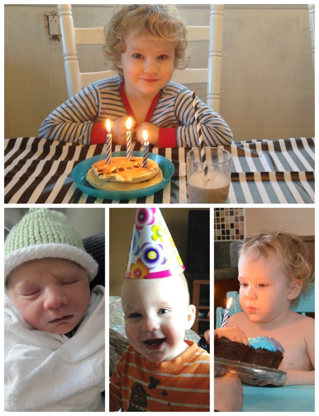 The birth day, 1st birthday, 2nd birthday and today!