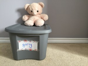 The Box. And my teddy bear from when I was little.