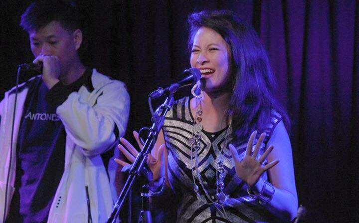 Larissa Lam sings at Molly Malone's