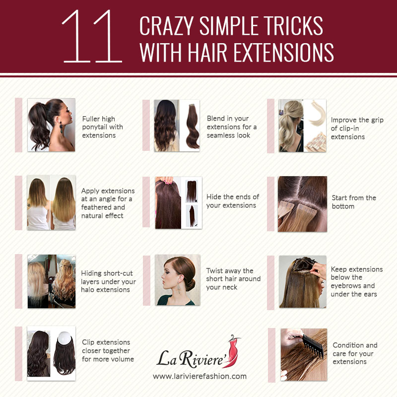 11 Crazy Simple Tricks With Hair Extensions La Riviere