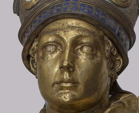 San Ludovico di Tolosa, particolare, Donatello, La Primavera del Rinascimento, Palazzo Strozzi Firenze, foto FEC.
