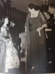 La Duchessa Reale Anna d'Aosta, il principe Alvaro de Orleans-Borbon e a sinistra la granduchessa del Lussemburgo
