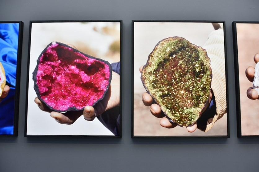 Fayçal Baghriche, Atlas Series, 2015. Stampa Digraphic su carta baritata Hahnemüle 325g, 130 x 105 cm. Installazione per la mostra inaugurale del Centro Pecci, fotografia di Andrea Paoletti.