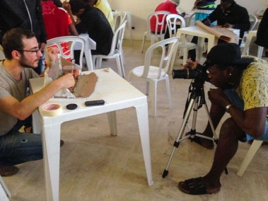 Creazione del corto durante il workshop