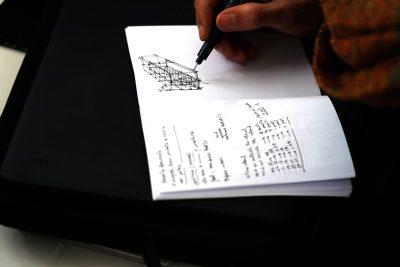 Schizzi della realizzazione delle strutture