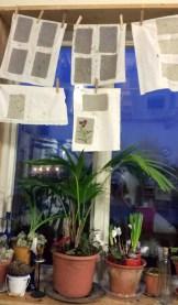 Papperstillverkning på Lärjeån. Foto: Maria Martins