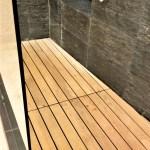 Teak Bathroom Shower Floor Image Of Bathroom And Closet