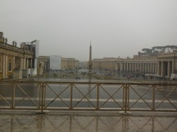 Panoramic view of Vatican City taken standing front of the Basilica