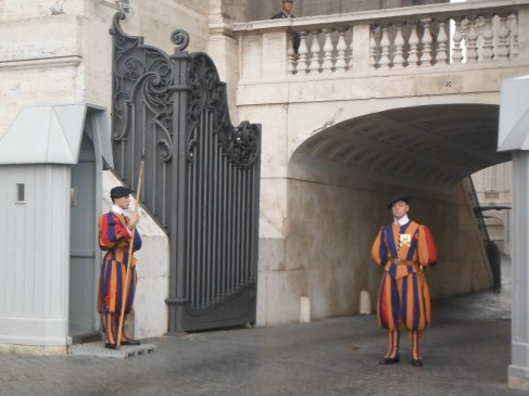 Vatican City guards on duty