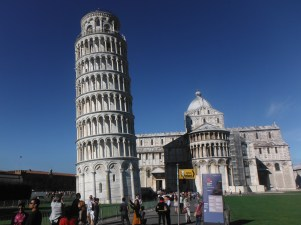 Leaning Tower of Pisa. City of Pisa was big power back in the medieval times before Florence came to power and later became the capital (no longer) of Italy.