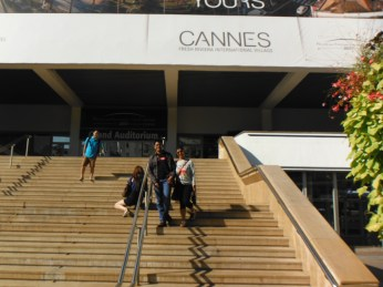 The auditorium that hosts the annual Cannes Film Festival; Movie legends have walked these steps