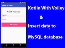 Android Kotlin With Volley Insert Data to MySQL database