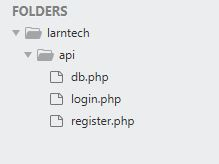 Retrofit web server file login register db