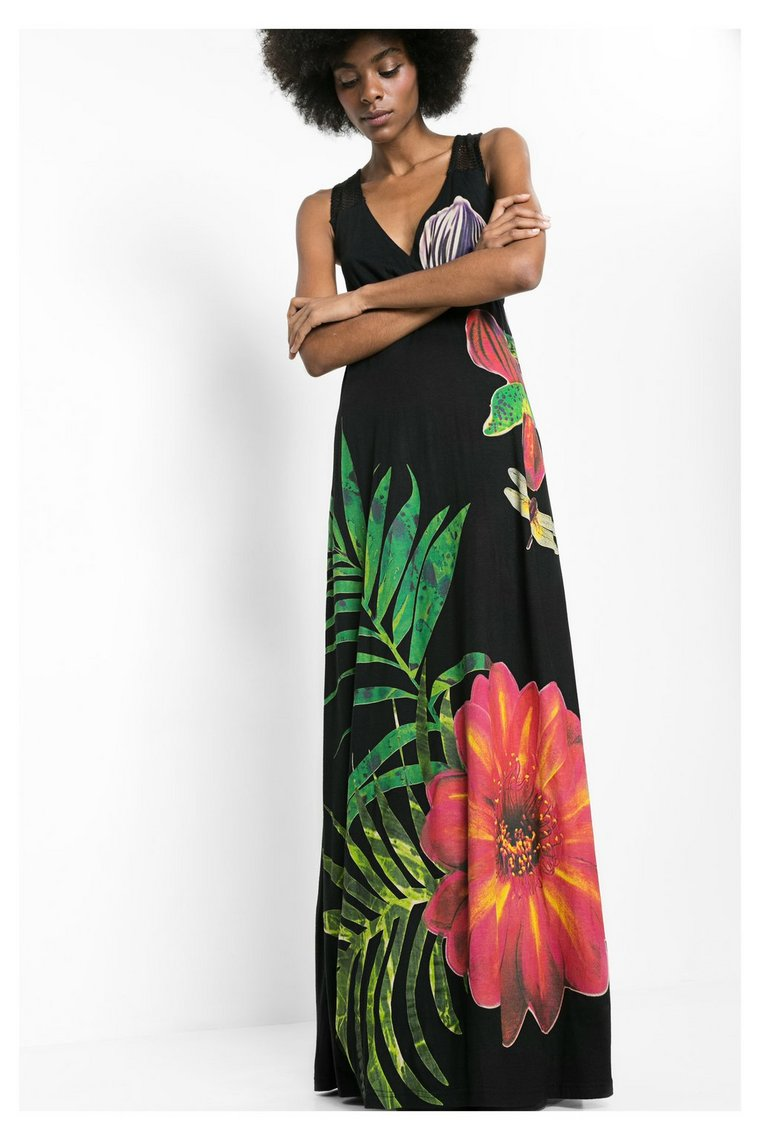 Robe Barbara Ete Collection 2016 Desigual Sans Manche Maxi