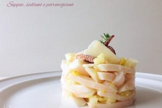 tortino sedano seppie e parmigiano