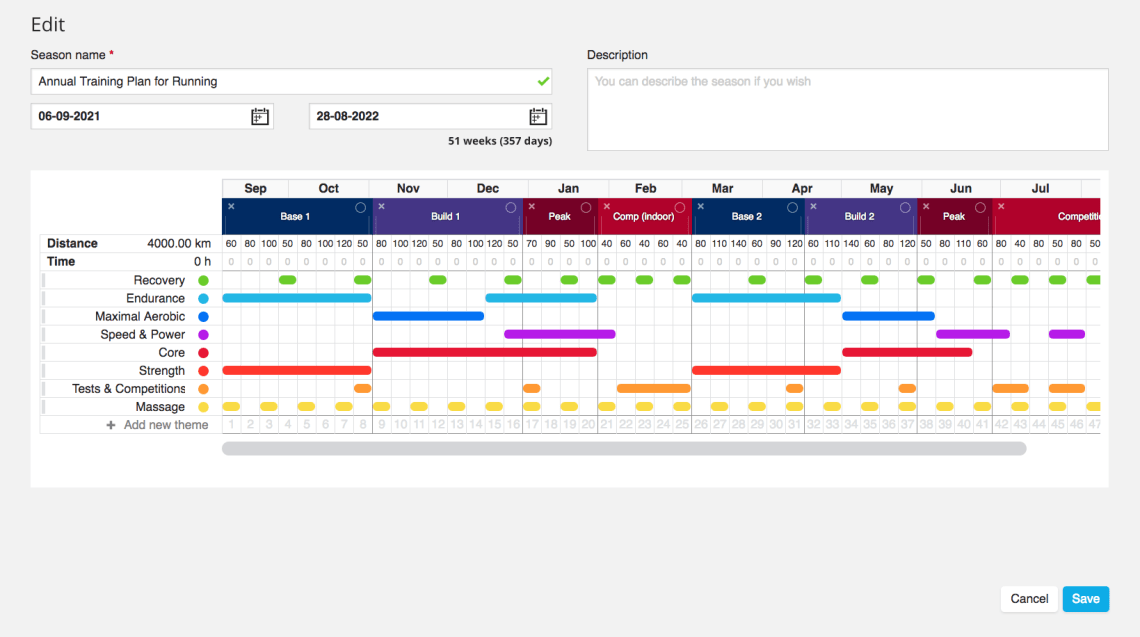 Polar Season Planner (Sample)