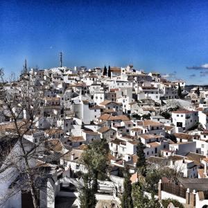 Blue sky white village- Comares.
