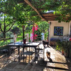 Summer terrace at La Rosilla.