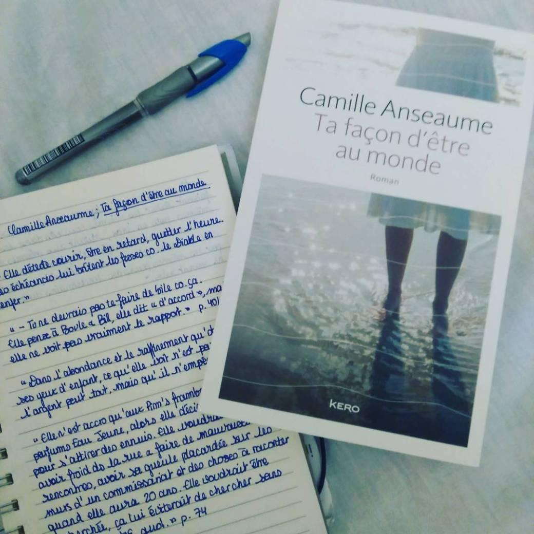 Revue : Ta façon d'être au monde - Camille Anseaume