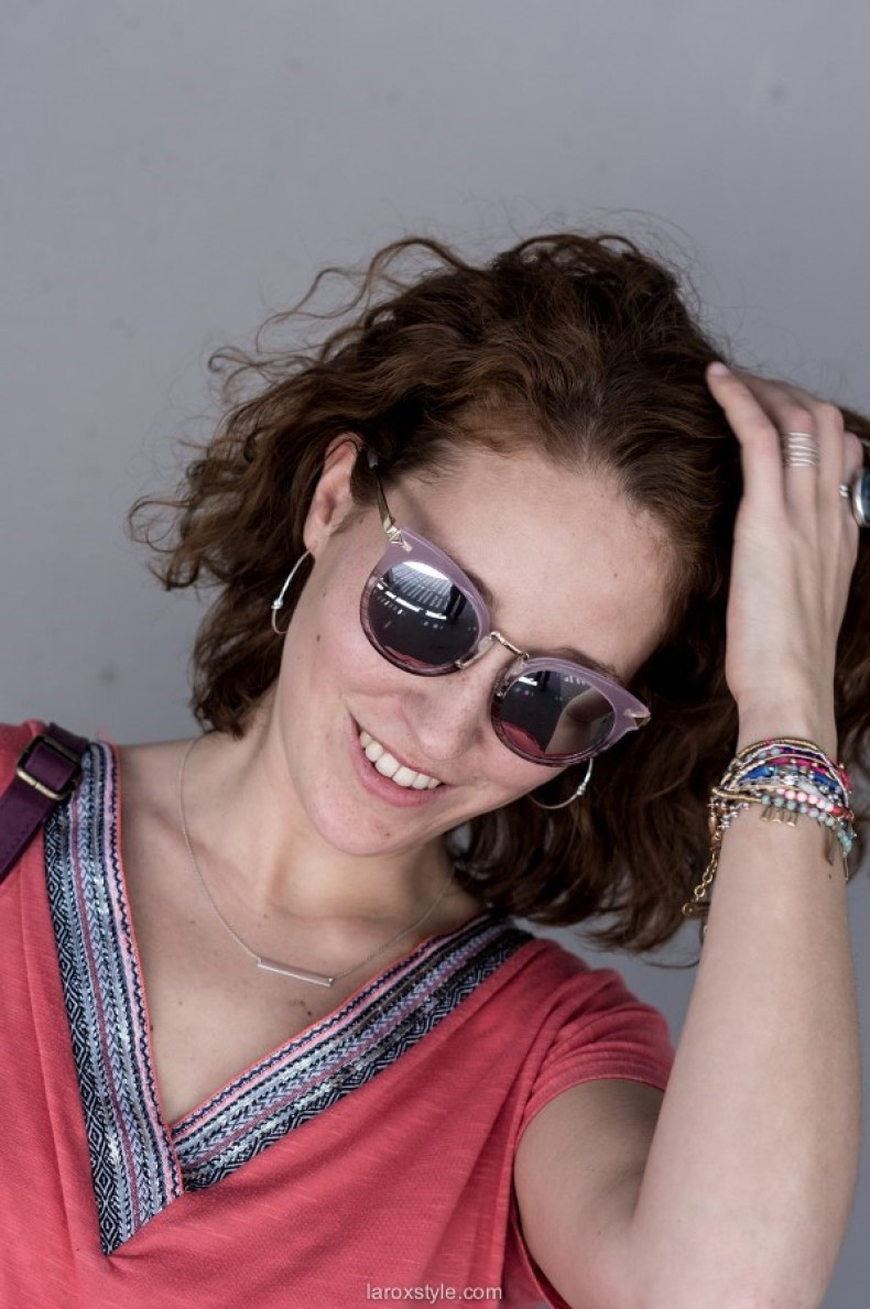 bijoux stella and dot - bracelets colores - lunettes miroir