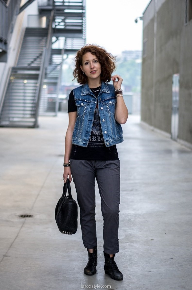 Rock'n Roll Baby - La Rockeuse de Diamants - look - blog mode lyon - laroxstyle