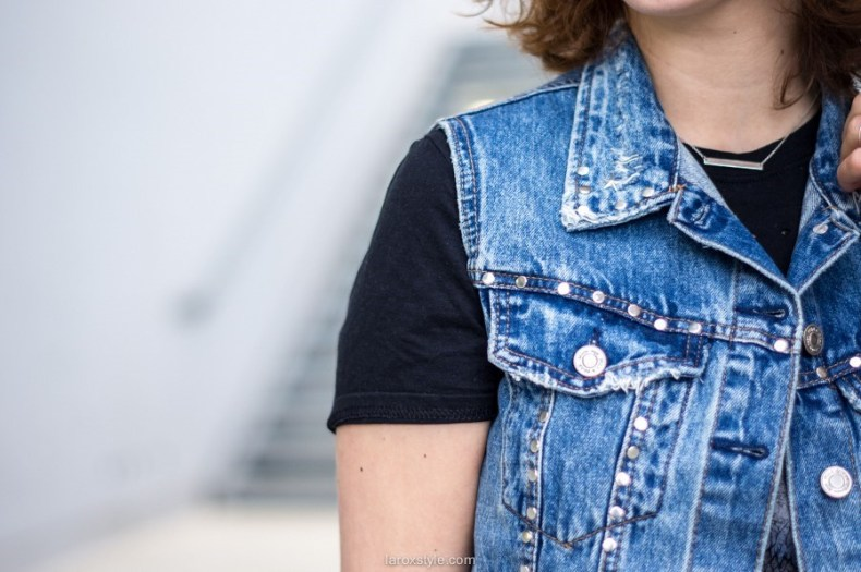 Rock'n Roll Baby - La Rockeuse de Diamants - look - blog mode lyon - laroxstyle