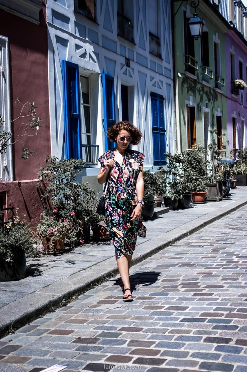 Paris - rue cremieux - robe longue fleurie - street style - fashion blogger