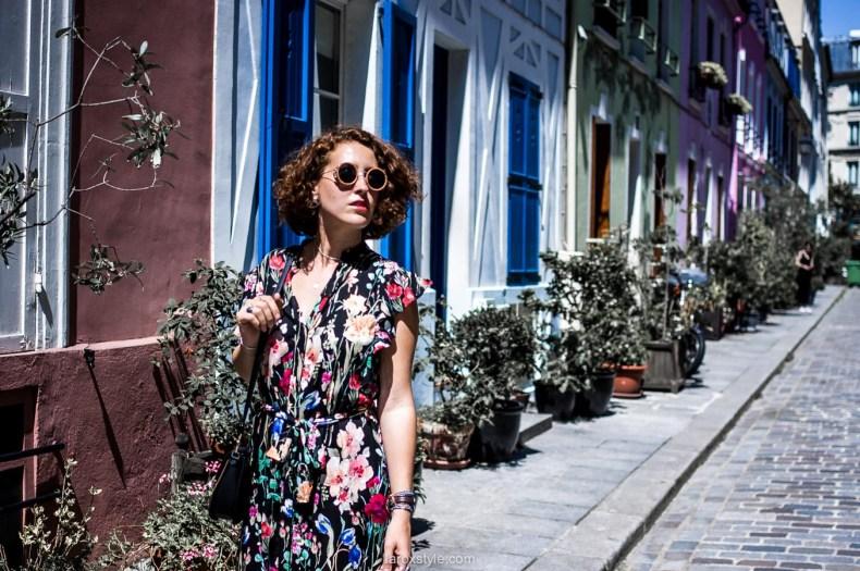 robe longue fleurs - rue cremieux - fashion blogger