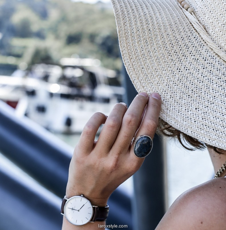 montre daniel wellington - look vaccances ete