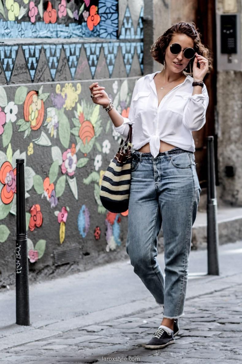 tendance sac panier - chemise nouee - laroxstyle - blog mode lyon