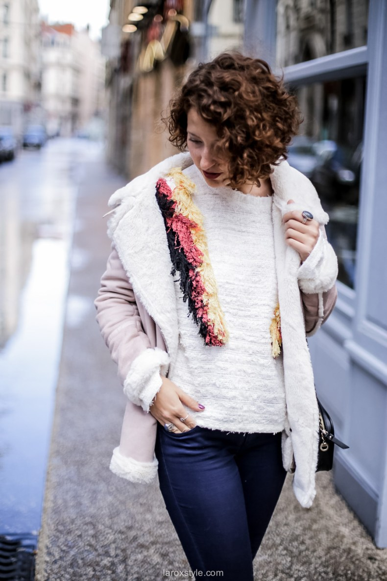 inspiration look - street style inspiration - manteau rose - laroxstyle blog mode lyon-4