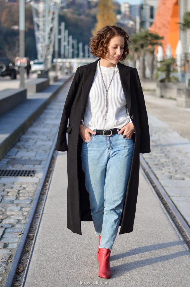 look casual rock - tendance red shoes - mom jean - blog mode lyon-8