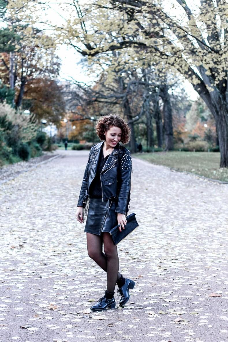 look rock - total look cuir - blog mode lyon - laroxstyle-2