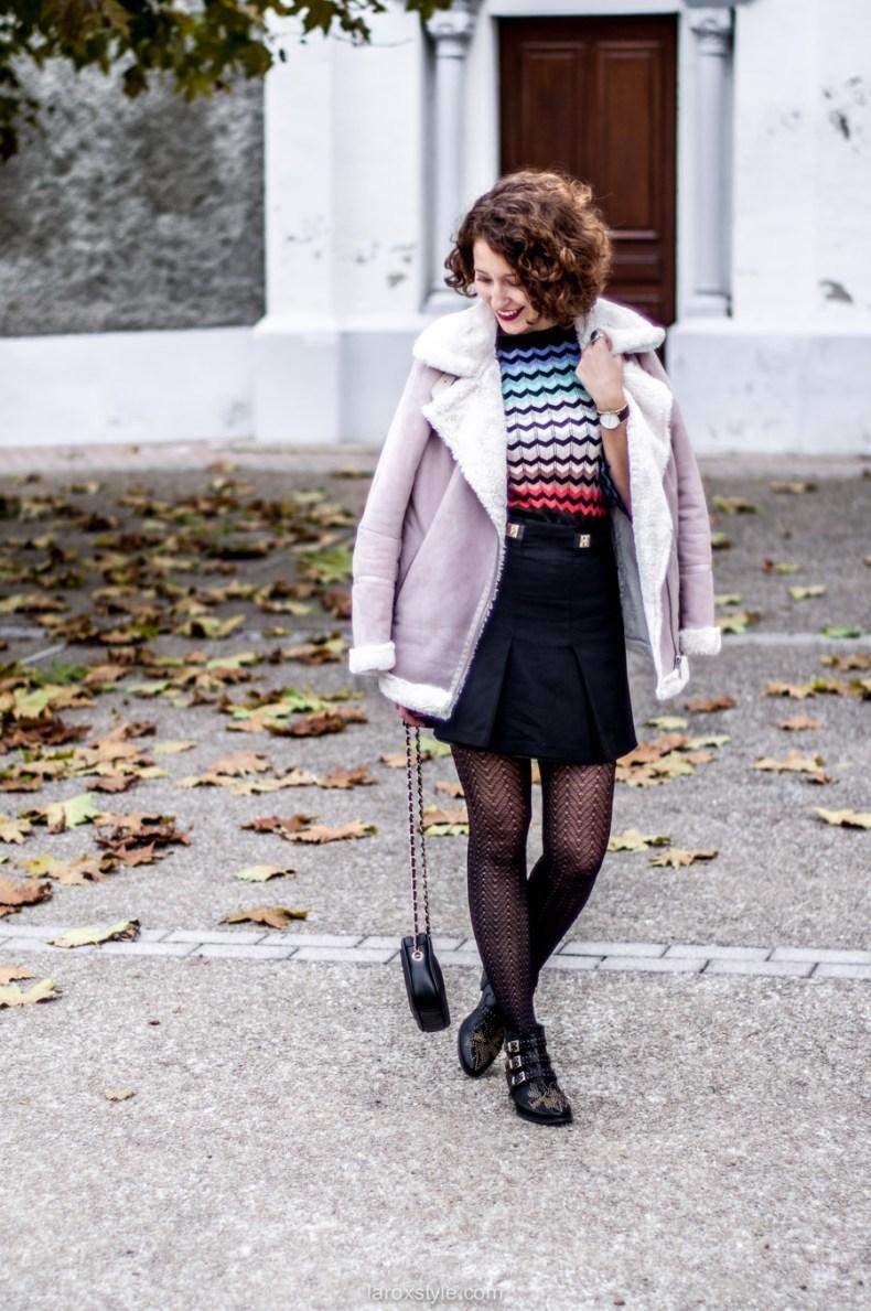 mini jupe trapeze - porter de la couleur en hiver - blog mode lyon - laroxstyle-4