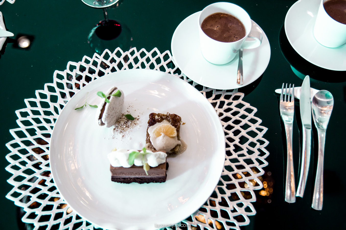 L'eclat restaurant Lyon - dessert au chocolat - adresses food lyon