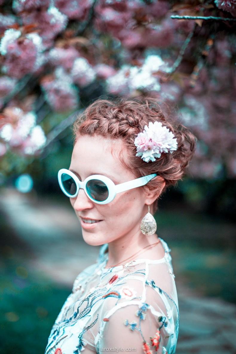 blossom party au Parc de la tete d or - look printemps - look fleuri - blog mode lyon - laroxstyle -25