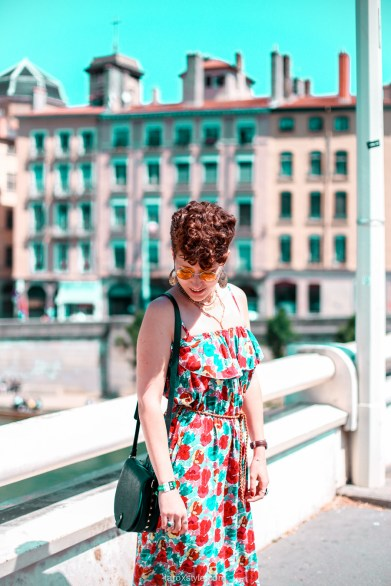 look festival - robe longue fleurie - stan smith - nuits sonores day 1 -7