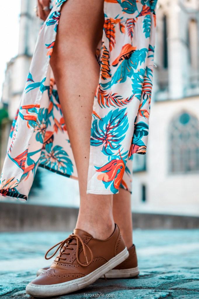 robe longues a fleurs grace and mila - balade dans les rues du vieux lyon - blog mode lyon