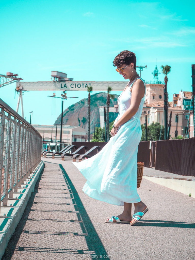 robe blanche boutonnee - it piece de l ete - blog mode lyon laroxstyle
