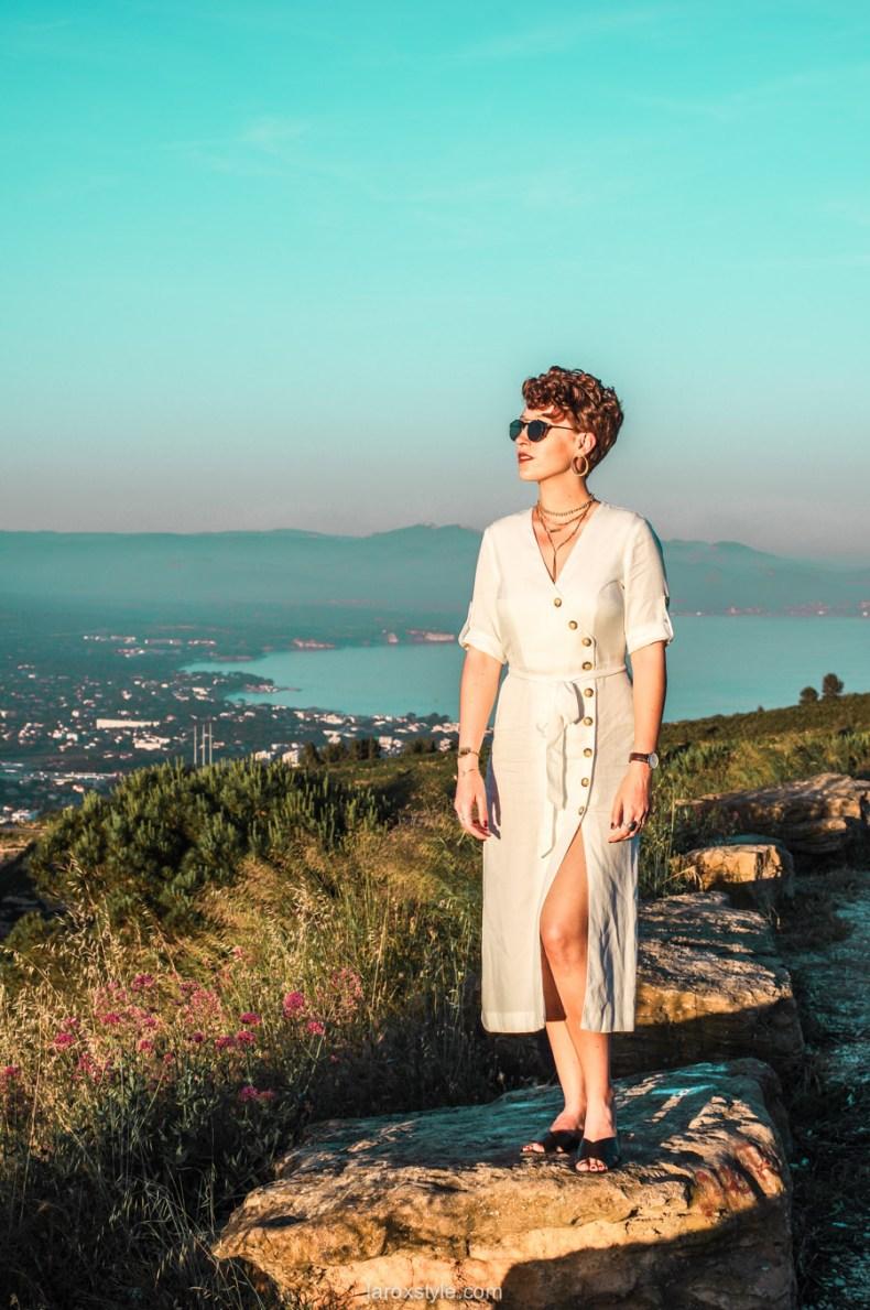 voyage à la ciotat - route des cretes - robe blanche zara - blogueuse mode voyage-1