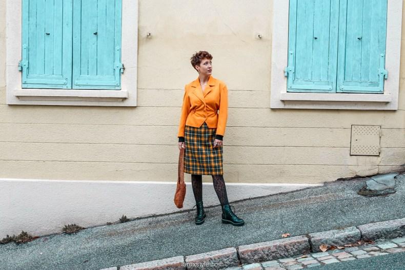 comment oser un look vintage orange pour l automne - chez biche-14