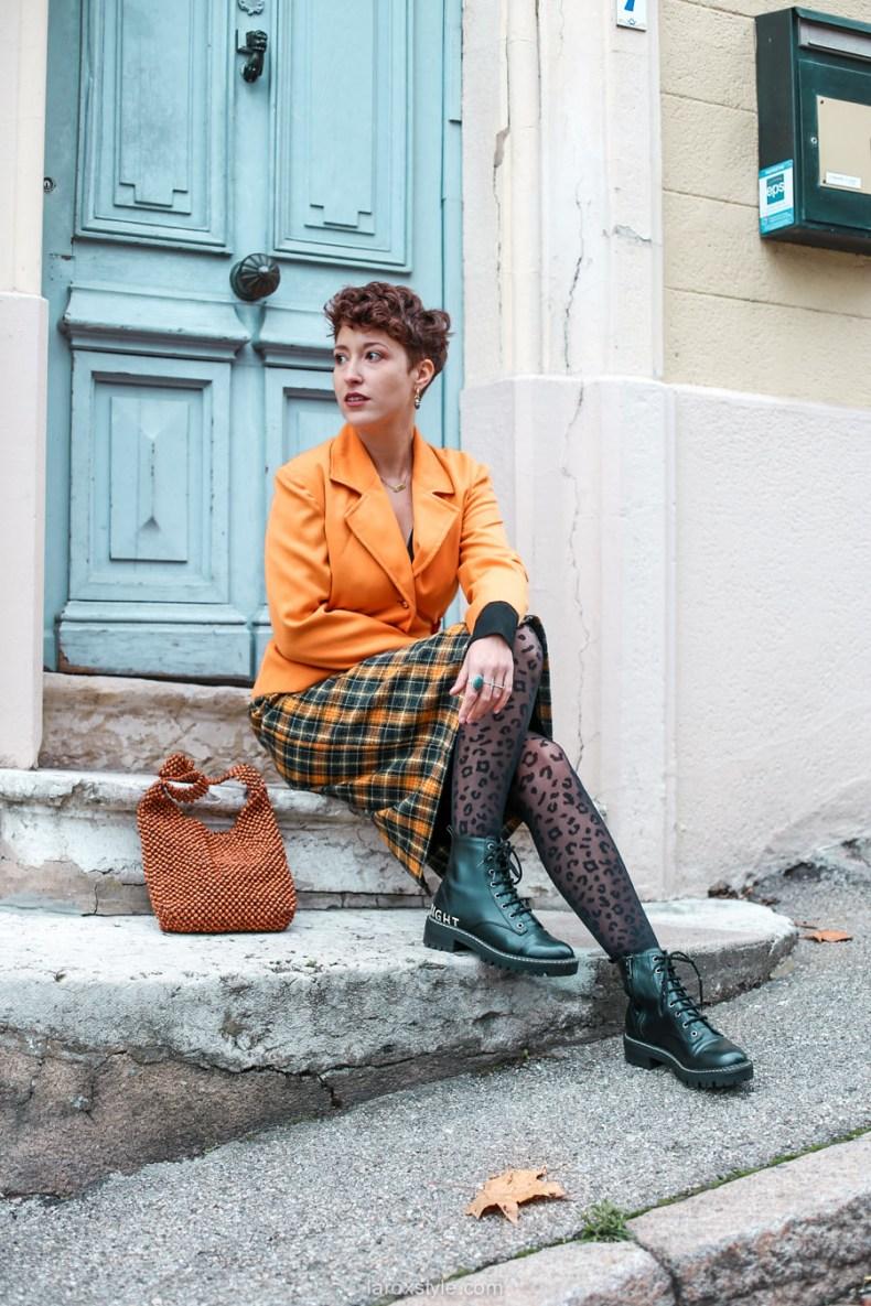 comment oser un look vintage orange pour l automne - chez biche-3