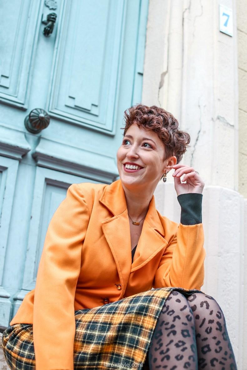 comment oser un look vintage orange pour l automne - chez biche-4