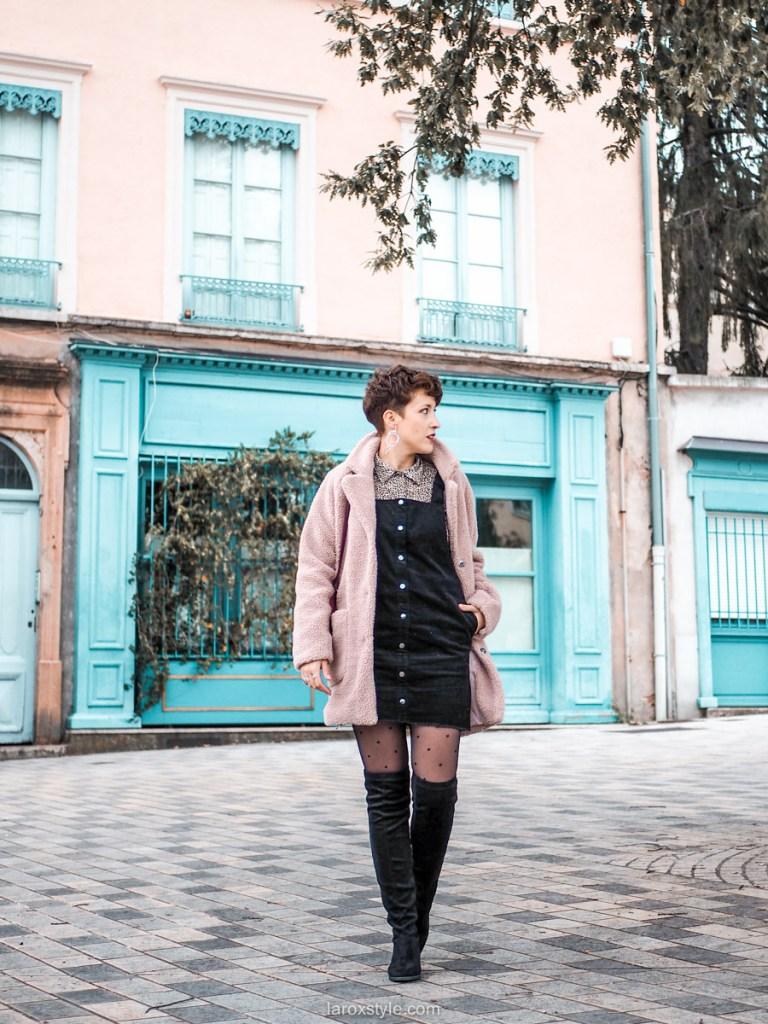 look blog mode robe salopette en hivers