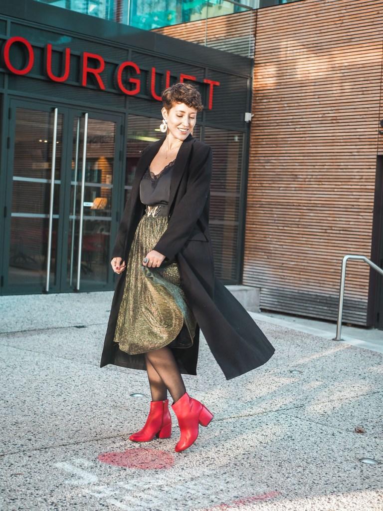 look blog mode jupe a paillettes pour les fetes
