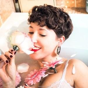 blog diy recette bain de lait aux fleurs