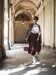 comment porter la jupe longue en automne hiver